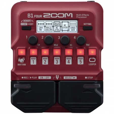 Zoom B1-FOUR Bass Multi-Effects Processor