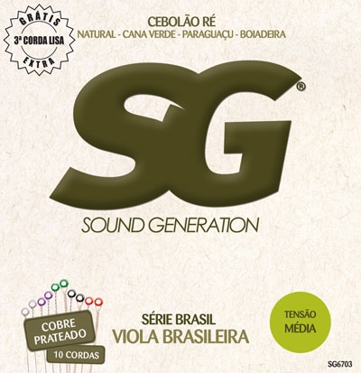 SG 6703 Violina Caipira Medium Tension 10-str